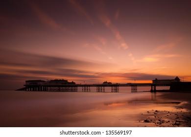 Cromer Pier at sunrise on the norfolk coast