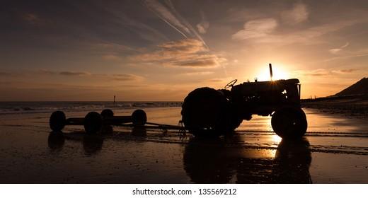 Cromer Tractor at Dawn