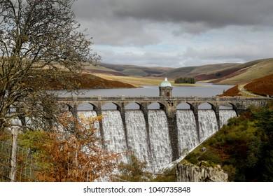 Cronfa Ddwr Craig Goch, Elan Valley, Powys, Wales. U.K. 10-9-2017.Southern View of Cronfa Ddwr Craig Goch, resvoir Elan Valley. Wales