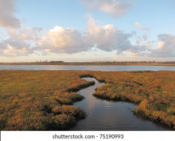Crooked inlet in Bolsa Chica Ecological Reserve, Huntington Beach, CA