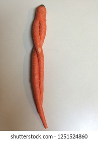 crooked orange carot