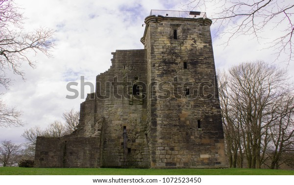Crookston Castle Ruins Located in Pollock Area, Glasgow. The origins of Crookston Castle date back to the late 1100s