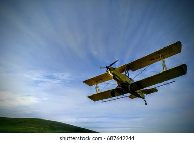 Crop Dusting Airplane Overhead