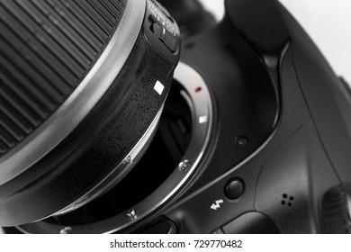 Crop frame camera lens connecter
