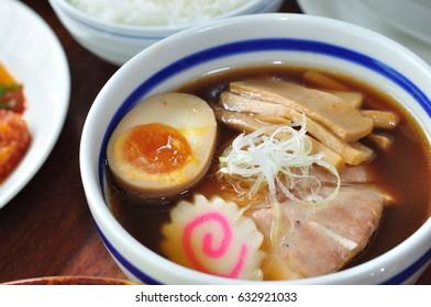 Crop original ramen or noodle of Japanese