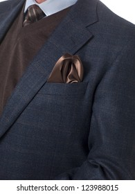Cropped close-up image of a mature businessman