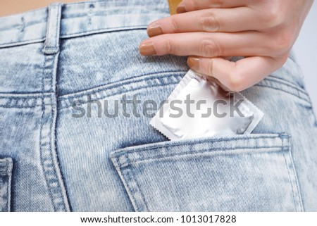 Putting condom dark