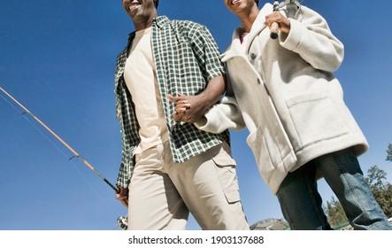Cropped photo of Couple Fishing