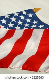 cropped photo of the flag of the United States.