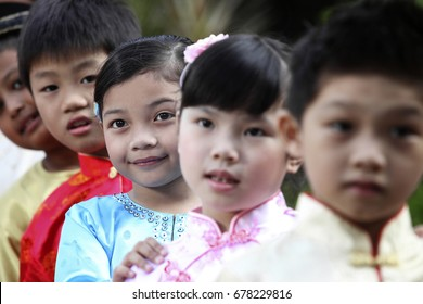 Cropped photo of multiracial kids