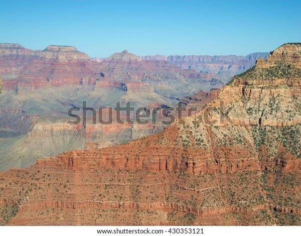 Cropped View Mountains Grand Canyon Arizona Royalty Free