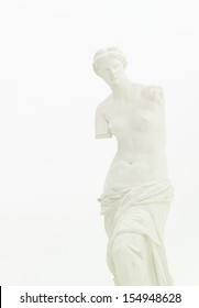 cropped view of replica of Venus de Milo isolated on white