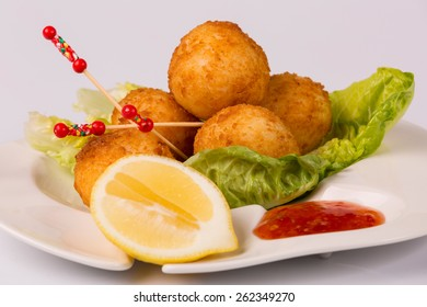 Croquettes on a plate