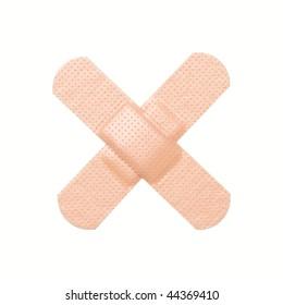 Cross adhesive bandage