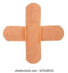 cross band-aid bandagesolated on white background