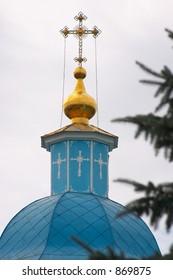 Cross by Belltower of Orthodoxy Church in Kirovograd, Ukraine