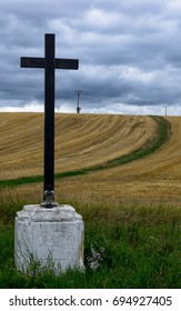 Cross by the road