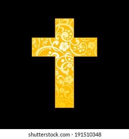 Cross. Christian Symbol.  illustration