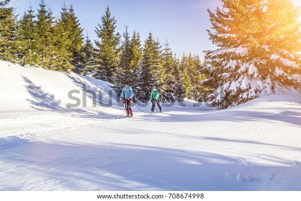 Skilanglauf in schöner Winterlandschaft