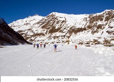 Cross country ski area in Formazza, Alps, Italy
