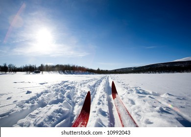A cross country ski detail