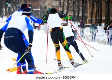 Cross Country Ski Race (focus in center of image)