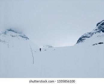 Cross country skiing in Jotunheimen, Norway