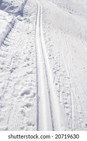 Cross country track in Formazza, Alps, Italy