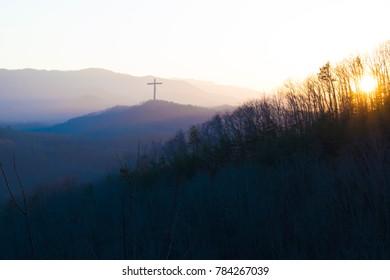 Cross in the Evening Sky