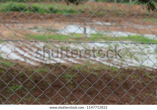 cross fence in agriculture fields