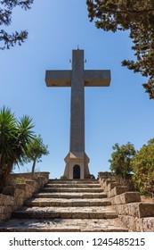 cross at Filerimos mountain at Rhodes