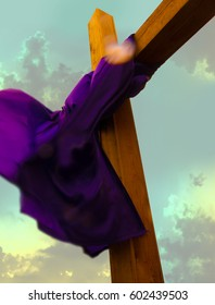 Cross with Garment in the Wind