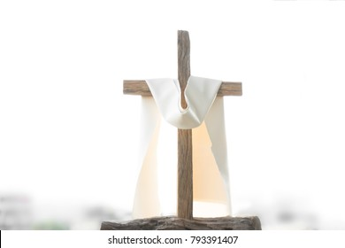 A cross in good friday in evening