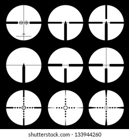 Cross hair and target set. �  illustration.