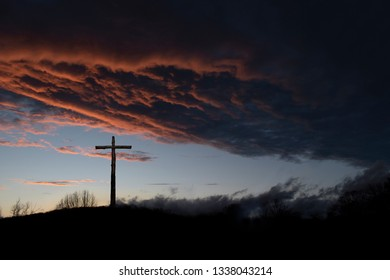 The Cross of Jesus at Sunset