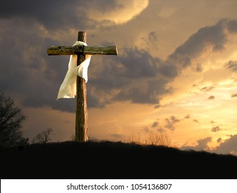 The Cross of Jesus with White Garment