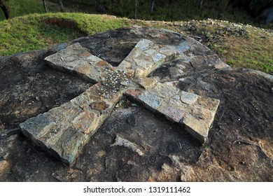Cross in Khami ruins, Zimbabwe