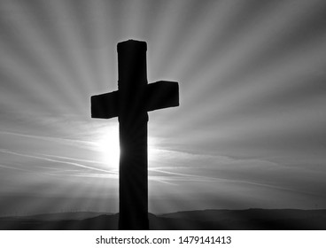 cross in mountain, easter procession, black and white artistic photographs of religious motifs of Holy Week, Easter, easter week, tribute to Ansel Adams.artistic black and white photography