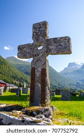 Cross in Norwegian graveyard
