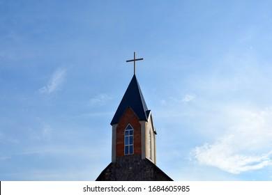 cross on a background of blue sky
