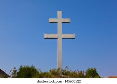 cross on blue sky