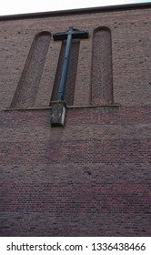 Cross on a Church wall, Dusseldorf, Germany