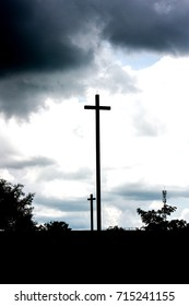 the cross on the dark