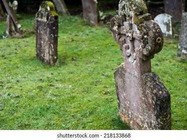 Cross on an english cemetery