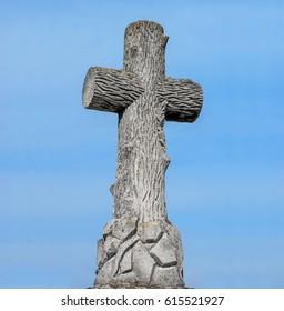 Cross on grave, cemetery, Ukrainian culture