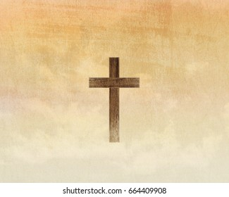 The cross on the grunge background, worship background