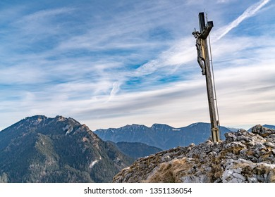 the cross on the Kofel in Oberammergau bavaria