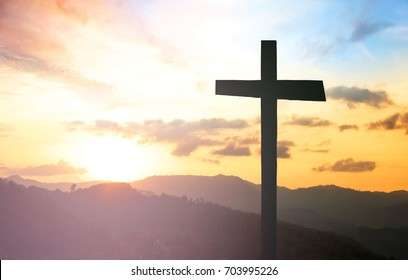 Cross on the mountains