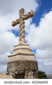 Cross on the top of hill in National Park of Sintra, Portugal