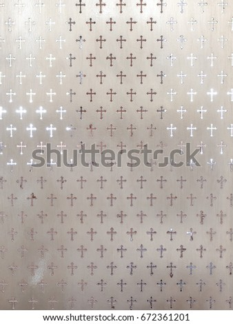 Cross Pattern On Frosted Glass Texture Stock Photo Edit Now